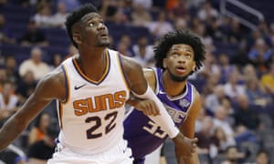 Deandre Ayton (22) and Marvin Bagley III, the top two picks in the 2018 NBA Draft face each other in preseason