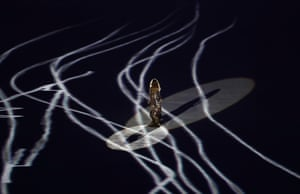 Gisele Bundchen walks on the stage during the Bossa segment of the opening ceremony.