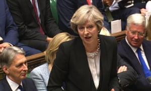 Theresa May and Michael Fallon