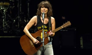Chrissie Hynde in concert in 2015, wearing jeans, when she was 63.