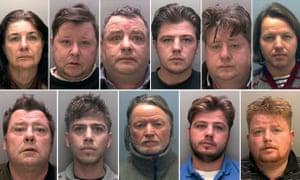 Top, from left: Bridget, Gerald, John, John, Lawrence and Martin Rooney. Bottom: Martin Sr, Martin, Patrick and Patrick Rooney and Peter Doran.