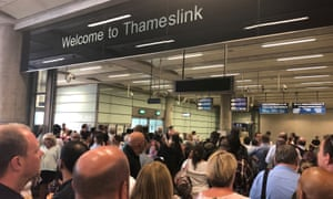 Commuters were stuck at St Pancras railway station after overhead cables were damaged, severely disrupting East Midlands and Thameslink services.