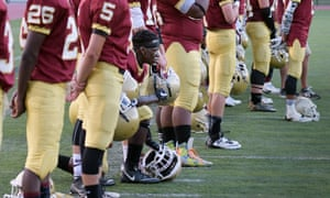 Doherty High School football player Michael Oppong was one of many to join Kaepernick in protest.