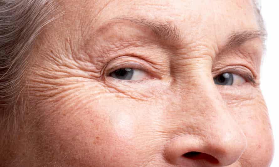 Senior woman, close-up of face and eyes.
