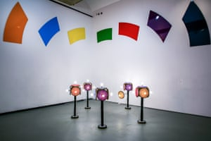 Gary Hume's Fragment of a Rainbow VI, 2011 at Towner, Eastbourne.