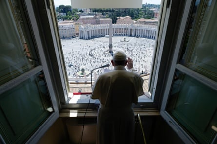 Pope Francis leads prayers from the Vatican, May 2020