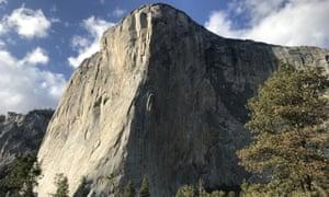 'Like walking on glass' … El Capitan, in Yosemite National Park, California.