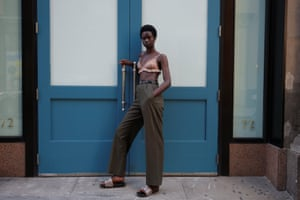 Fatou Jobe, 24, a model based in New York, poses for a portrait in Manhattan.