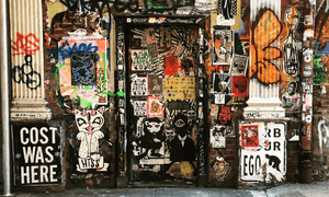 The New York landscape is changing rapidly, says Jonathan of his drive to capture city's the imposing, archaic and graffiti-covered doors.