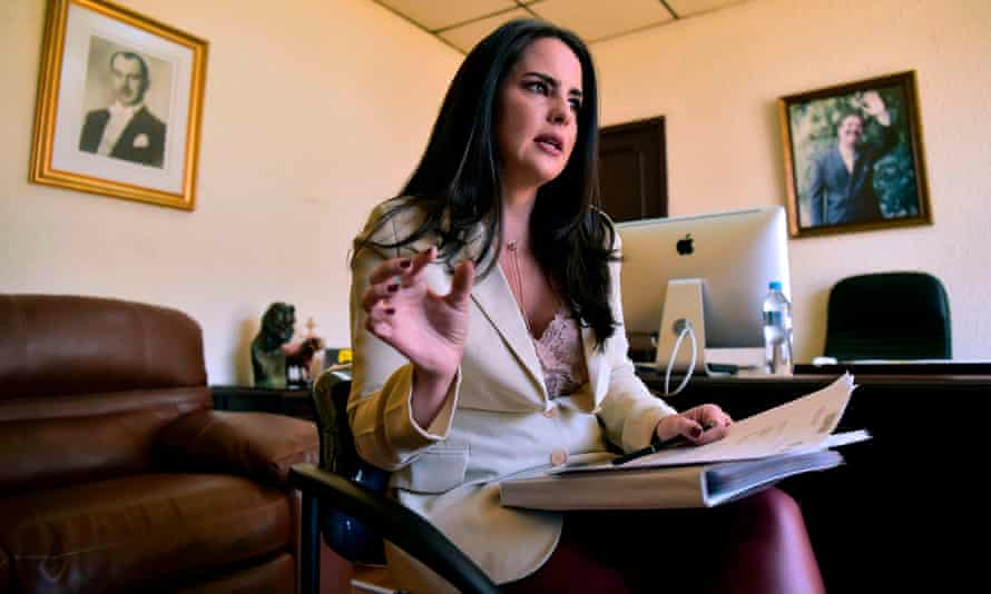 Ecuadoran right-wing congresswoman Paola Vintimilla speaks during an interview in Quito