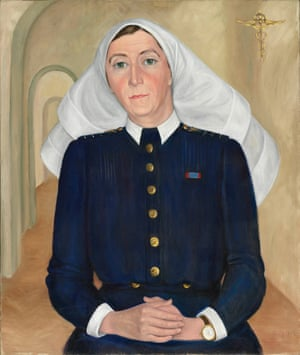 Muriel Knox Doherty joined the United Nations Relief and Rehabilitation Administration at the end of World War II, when she was appointed matron to the recently liberated Bergen-Belsen concentration camp in Germany. She was awarded the Royal Red Cross for exceptional services in military nursing and her harrowing experiences.Oil on canvas (1948)