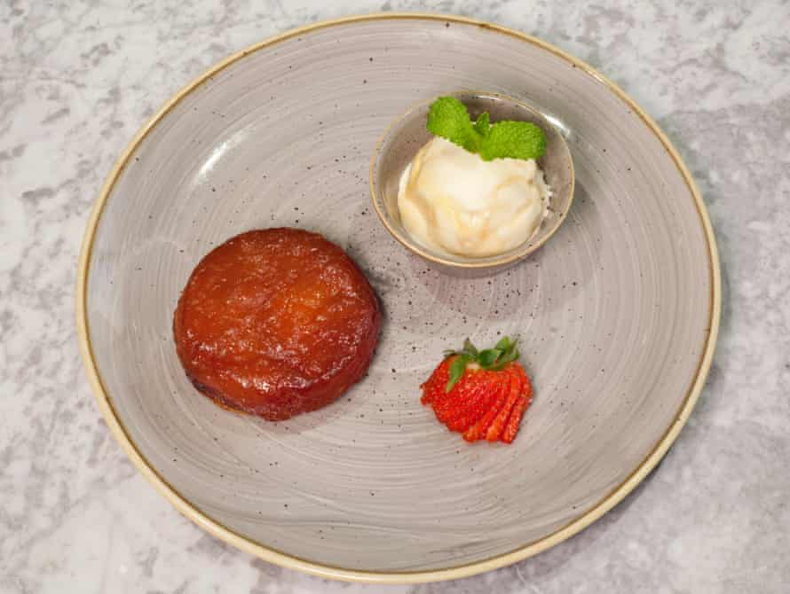 Unyielding finish: 'an apple tatin skitters about the plate when I try to cut in'.