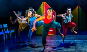Imaginative … Mayowa Ogunnaike (Gretel), Esme Benjamin (Wasi), Rudzani Moleya (Joy) and Marc Stevenson (Hansel) in Hansel and Gretel.