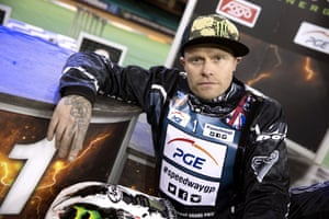Keith Flint at a speedway session at the Millennium Stadium, Cardiff, in May 2013. The frontman was also a successful motorcycle racing team owner