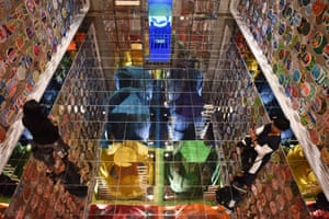 London, England: Chakaraview, an Indian installation at London Design Biennale at Somerset House