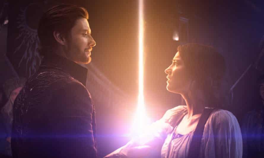 Ben Barnes and Jessie Mei Li in the Netflix adaptation