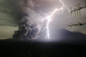 Lumajang, Indonesia Mount Semeru spews volcanic materials during an eruption