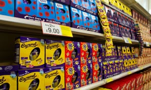 Easter eggs in a supermarket