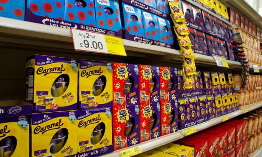 Easter eggs on offer