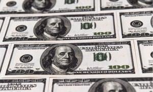 US hundred dollar notes