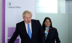 Supporters confidently predict Priti Patel (pictured with the prime minister, Boris Johnson) will win the war on crime.