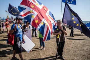 Remain campaigners demonstrating at a rally outside the Labour conference on Saturday