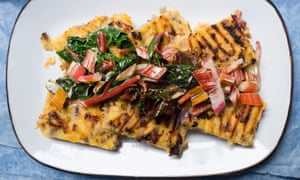 Polenta with pancetta, chard and cream