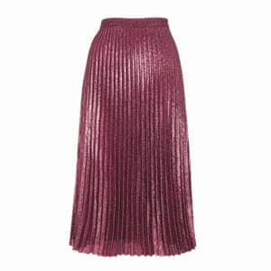 pink pleated skirt Whistles