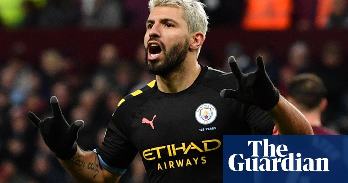 Sergio Agüero hits hat-trick at Aston Villa in Manchester City demolition job