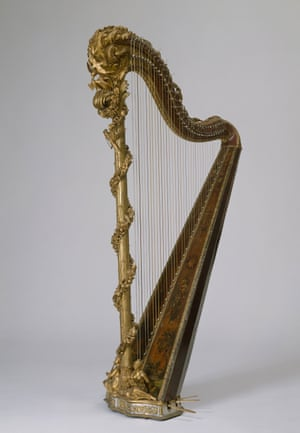 Marie Antoinette's gilded harp (1775), on loan from the Palace of Versailles