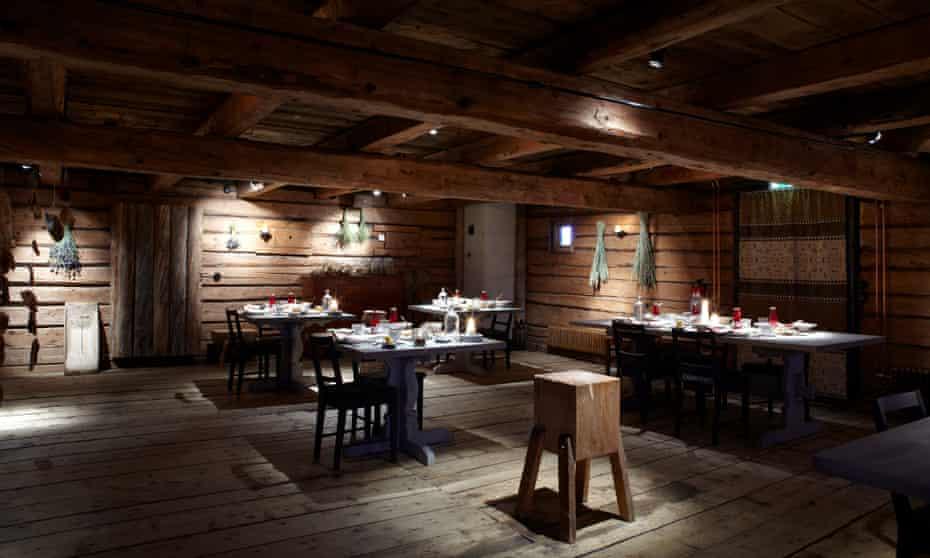 Fäviken's dining room