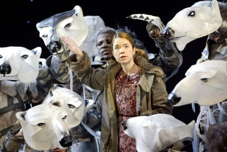 Anna Maxwell Martin as Lyra in the 2003 stage adaptation of His Dark Materials at the National Theatre in 2003.
