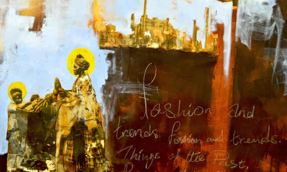 A detail from Saints and the City by the Kenyan artist Longinos Nagila.