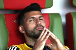 Serigo Aguero finds himself back on the bench.