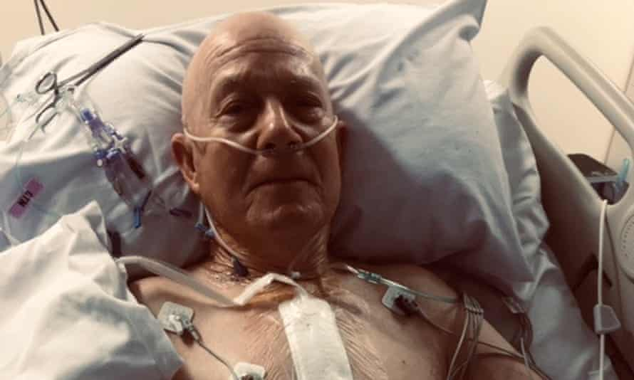Roger Hennessy in ICU after his triple heart bypass during Sydney's lockdown