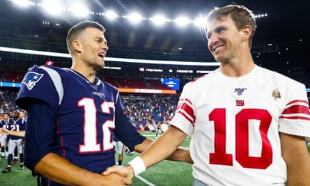 Eli Manning and Tom Brady faced each other in two Super Bowls