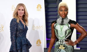 Julia Roberts and Cynthia Erivo, who plays Harriet Tubman in Harriet.