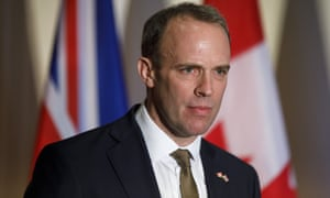 Foreign secretary Dominic Raab, who visits the US this week.