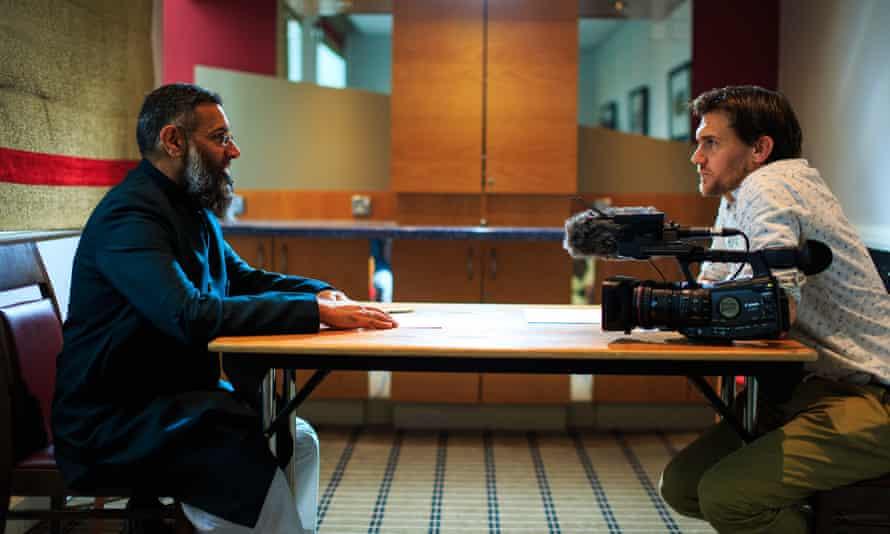 Anjem Choudary and film-maker Robb Leech