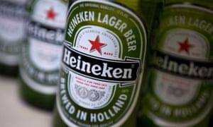 Heineken beer bottles