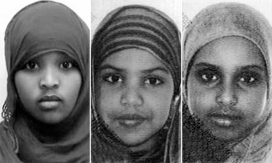 Fardowsa Hassan, Abir Salah and Ahlam Salah