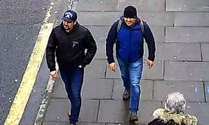 Novichok poisoning suspects Alexander Petrov and Ruslan Boshirov are shown on CCTV on Fisherton Road, Salisbury.