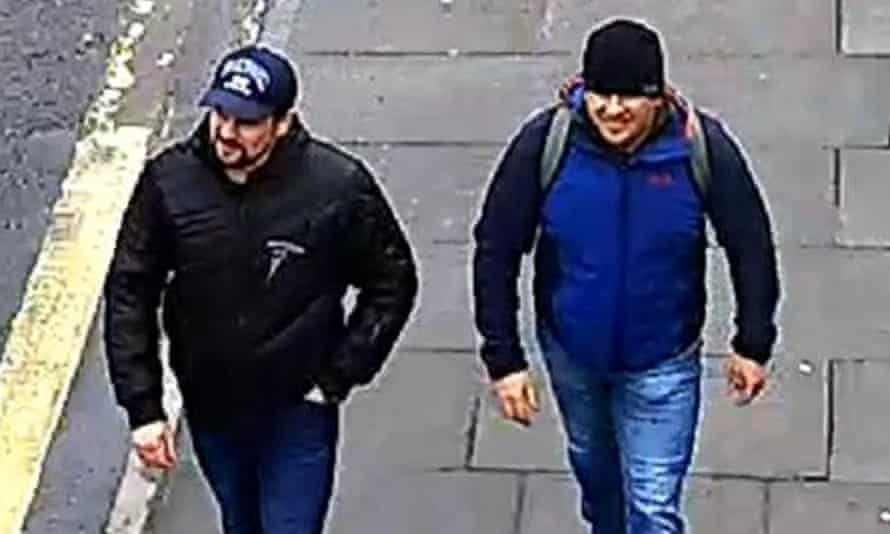 The two suspects on Fisherton Road in Salisbury