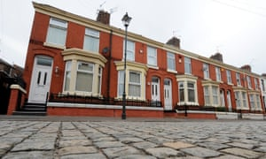 Homes in Liverpool's Kensington area. The city's average property price is now put at £109,600.