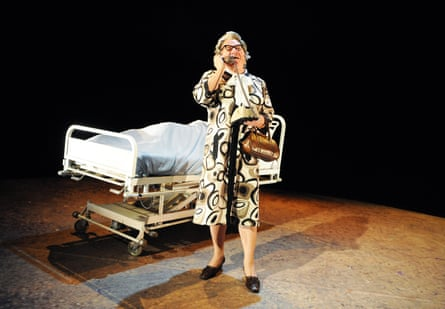 Philip Voss as Mary Whitehouse in Canary at Hampstead theatre, London, in 2010