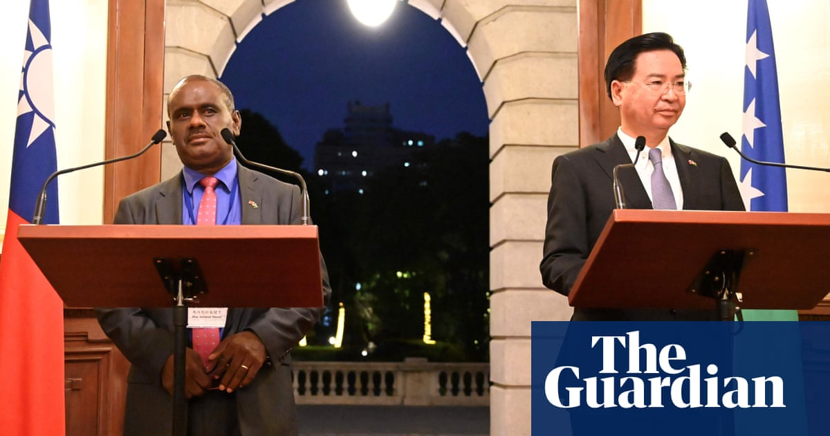 China extends influence in Pacific as Solomon Islands break with Taiwan | World news | The Guardian