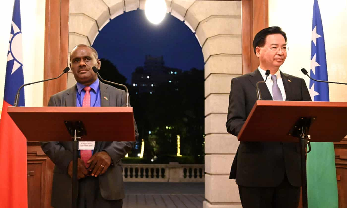 China extends influence in Pacific as Solomon Islands break with Taiwan