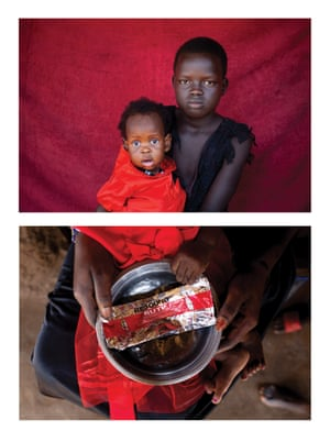 Calaso, 15, and her nine-month-old niece Yasmiin in South Sudan