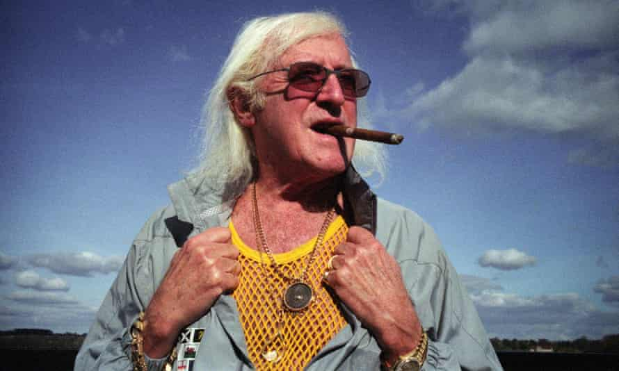 Creepy and chilly … how Savile came across in Theroux's original documentary.
