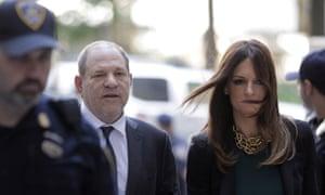 Harvey Weinstein and attorney Donna Rotunno arrive at court